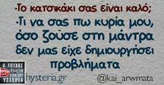 -Το κατσικάκι σας Sarcastic Quotes, Funny Quotes, Funny Greek, Greek Quotes, Just For Laughs, Puns, Haha, Jokes, Humor