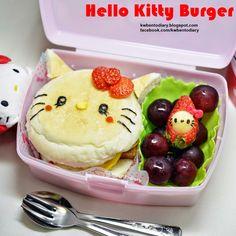 Karenwee's Bento Diary: Bento2015#Mar24~Hello Kitty Burger