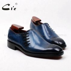 Shoes - Blue Handmade Pure Genuine Leather side lace up Oxford Shoe Calf Leather, Leather Men, Top To Toe, Men S Shoes, Cheap Shoes, Blue Shoes, Calves, Casual, Cufflinks