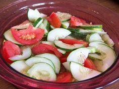 Cuke, tomato salad