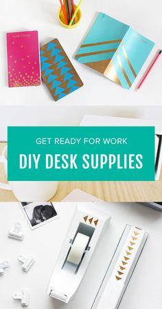 DIY gilded school/desk supplies