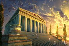 Image result for mount olympus greek mythology
