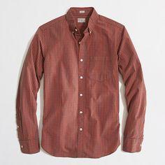 Factory slim washed shirt