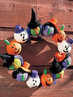 Halloween Head Wreath Turn heads with this fun-filled Halloween wreath By Woman's Day Staff