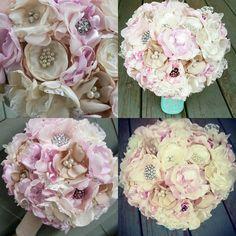 https://www.etsy.com/listing/501900846/bridal-broach-heirloom-bouquet-custom #bouquets #weddingflowers #keepsake #bridalbouquet #heirloombouquet #rosegold #blush #ivory #champagne