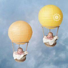 Shannon Leigh Studios  #twins #newborntwins #twinideas #hotairballoons #twinphotographer #shannonleighstudios #boygirltwins #multiples