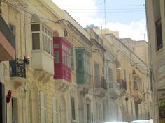 Malta`s beautiful old balconies