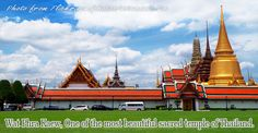 Wat Phra Kaew or Wat Phra Sri Rattana Satsadaram is considered a sacred place that provides protection for the kingdom and serve as a venue for making merit of The Royal ceremony. #Bangkok #Travel #Thailand