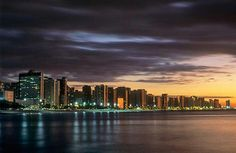 Fortaleza, Brazil - How gorgeous is that? Wonderful Places, Beautiful Places, My Land, Oh The Places You'll Go, South America, New York Skyline, Clouds, Vacation, City