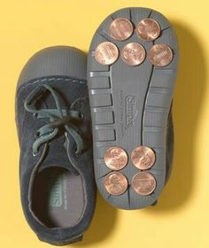 Tap shoes! Simple & fun distraction on rainy days....