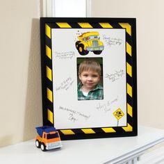 Construction Pals Framed Signature Matte from BirthdayExpress.com