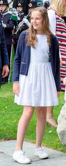 Princesse Ingrid Alexandra, 4 juillet 2017, 80 ans de la reine Sonja, Parc du Palais royal, Oslo