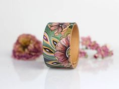 Blubery / Kožený náramok Cuff Bracelets, Handmade, Jewelry, Hand Made, Jewlery, Jewels, Craft, Jewerly, Jewelery