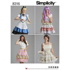 Simplicity Pattern 8316 Misses' Heart Aprons