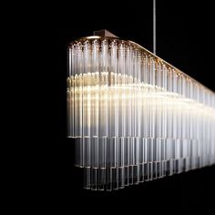 Modern Glass Tubes Chandelier 12385