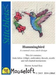 I really love this kit, it is so colourful :-) Mouseloft Stitchlets Cross Stitch Kits Hummingbird