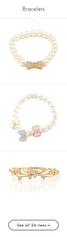 """Bracelets"" by dolly164 ❤ liked on Polyvore featuring bracelets, ddlg, abdl, jewelry, forever 21 bangles, bow bangle, forever 21 jewelry, polish jewelry, druzy jewelry and accessories"