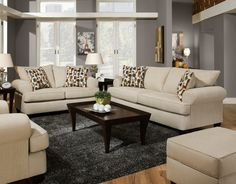 Giselle Sofa Ivory From Huffman Koos