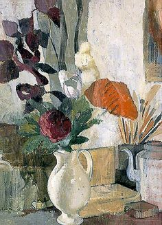 'Still life with poppies', 1945 - Angelica (Bell) Garnett