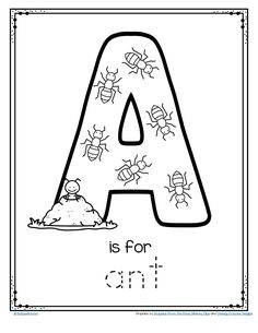 FREE A is for ant alphabet letter printable #alphabet #preschoolletters #antprintable