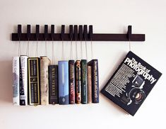 Hanging book rack- too much $ but really neat.