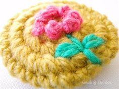Crochet Flower Buttons
