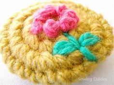 Crochet Flower Buttons