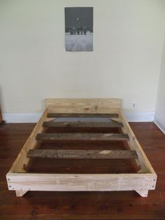 DIY your own Bed!  The blogger said it cost a total of $22! Tutorial given and is great! - Add a little upholstery / stain and it will look enough like the 1000$ one you saw at artv  an in no time! //