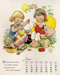 cute vintage calendar- June 1967
