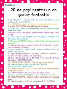 You searched for Cum sa ai un an scolar fantastic in 20 de pasi simpli - EmaLaScoala First Day Of School, Back To School, Lessons For Kids, Emotional Intelligence, Kids Education, Education Quotes, Classroom Management, Preschool Activities, Kids And Parenting