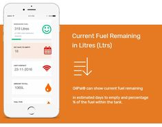 Current Fuel Remaining in Litres - OilPal can show current fuel remaining in estimated days to empty and percentage of fuel within the tank