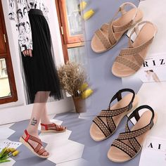 97ce2f7a7 Women Sandals Soft Bottom Sandals Peep Toe Fashion Ladies Sandals 2018  Summer Flat Sandals Female Shoes