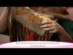 Alize Angora Gold ve Alize Country ile Keçe Tekniği Şal Yapımı-Making Felting Technique Shawl - YouTube