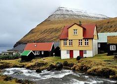 Faroe Islands, between the Norwegian Sea and North Atlantic Ocean