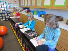 A standing area in the classroom provides flexibility for students and keeps them more engaged with learning.
