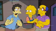 """Lisa Simpson a necrophile!?   The Simpsons get a zombie for a son-in-law in """"Days of Future Future."""" The story is set 30 years in the future. Milhouse finally gets Lisa to marry him but she spends all her time volunteering at a zombie soup kitchen, which serves vegetarian brains only. Her husband reluctantly visits her and immediately regrets it.   #zombies #cartoon #animation #tv #simpsons #necrophilia #sex  http://l7world.com/2014/04/lisa-simpson-necrophile.html"""