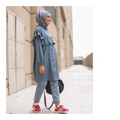 we love this dynamic, young, powerful brand . Veee sites … we love this dynamic, young, powerful brand ♥ ️ Hijab Sport, Sports Hijab, Abaya Fashion, Modest Fashion, Casual Hijab Outfit, Casual Outfits, Turkish Fashion, Turkish Style, Hijab Trends