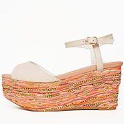 Jute-designed Wedge Sandals /PS3298/RANDA