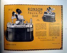 Ronson American Art Deco Touch-tip Cigarette Lighter
