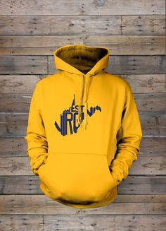Wv Hoodie Sweatshirt from The Stately Shirt Co   WV Hoodies   WV Hoodie   West Virginia Home State Hoodie   WVU Hoodie by TheStatelyShirtCo