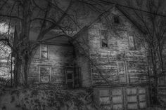 Abandoned with a double garage. Double Garage, Old Houses, Empty, Abandoned, Cabin, Country, House Styles, Painting, Walls