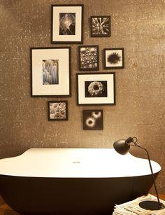 Scoop Bathtub by Falper.  Like wood Floor and tile design. (Match with Japanese vanity?)