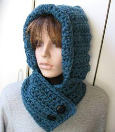 crochet hooded neck warmer - Google Search                                                                                                                                                                                 More
