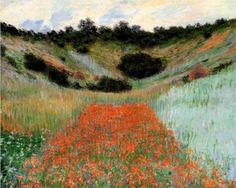 Poppy Field in a Hollow near Giverny - Claude Monet