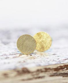 "Große Ohrstecker ""Circle"" // vergoldet #earrings #ohrringe #schmuck #jewelry #silber #gold #silver #design #pikfine #cologne #köln #ehrenfeld #germany"