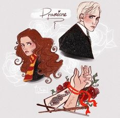 Draco Harry Potter, Harry Potter Ships, Hermione Granger, Draco Malfoy, Draco And Hermione Fanfiction, Dramione Fan Art, Harry Potter Pictures, Fantastic Beasts, Slytherin