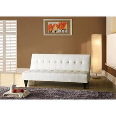 $198.00 Faux Leather Bycast Adjustable Futon Sofa, Multiple Colors - Walmart.com