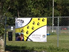 Our advertising banner at Dogwood Park.