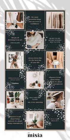 Social Media Instagram, Canva Instagram, Instagram Grid, Free Instagram, Instagram Feed Ideas Posts, Instagram Feed Layout, Instagram Post Template, Instagram Design, Grid Design
