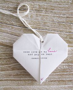 DIY Origami Love Note